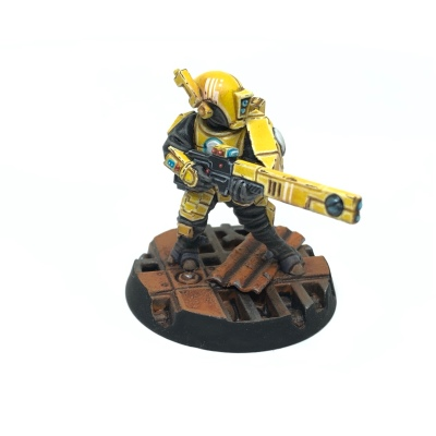 Yellow T'au Kill Team Fire Warrior Strike