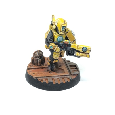 Yellow T'au Kill Team Fire Warrior Pulse Carbine