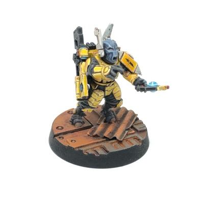 Yellow T'au Kill Team Fire Warrior Shas'ui Leader