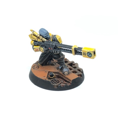 Yellow T'au Kill Team Pathfinder Railrifle Sniper Specialist
