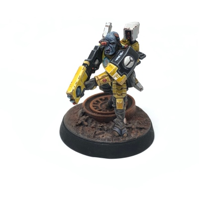 Yellow T'au Kill Team Fire Warrior Breacher Shas'ui Veteran Specialist