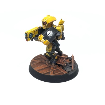 Yellow T'au Kill Team Fire Warrior Breacher