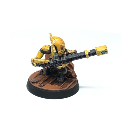 Yellow T'au Kill Team Pathfinder Railrifle