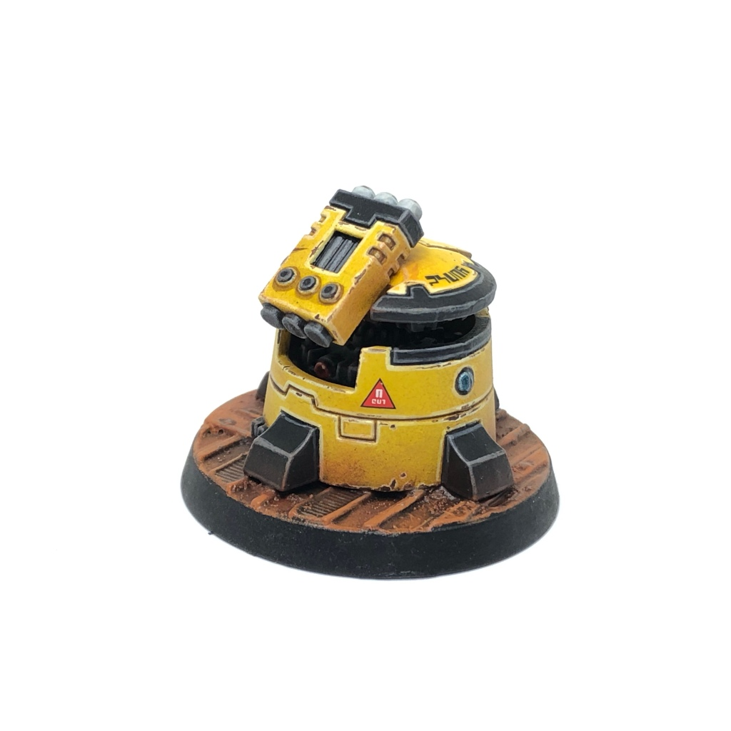 Yellow T'au Kill Team Pathfinder DS8 Tactical Support Turret back