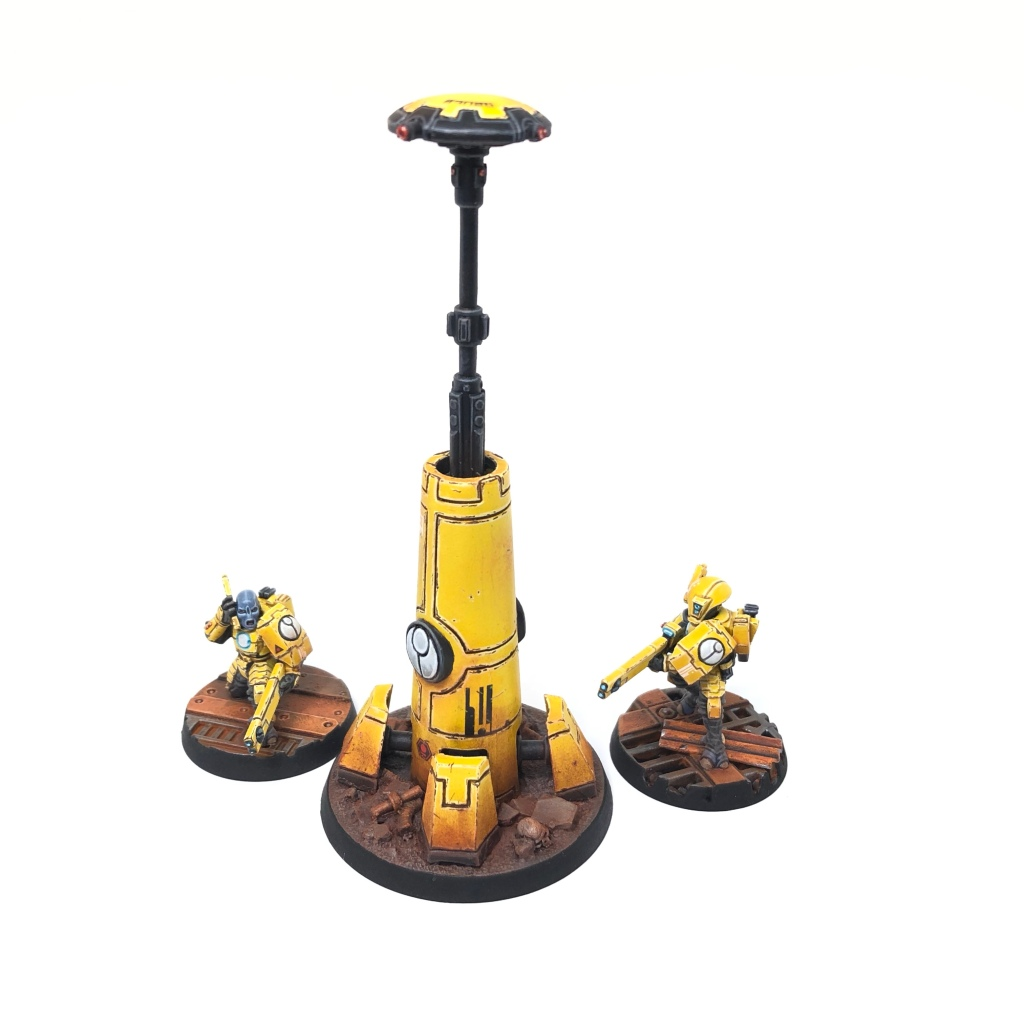 Yellow T'au Kill Team Remote Sensor Tower objective