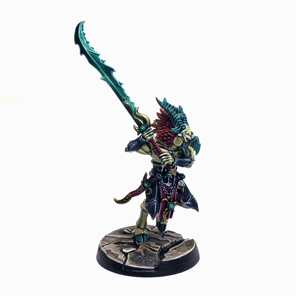Tzeentch Arcanite Tzaangor with Savage Greatblade
