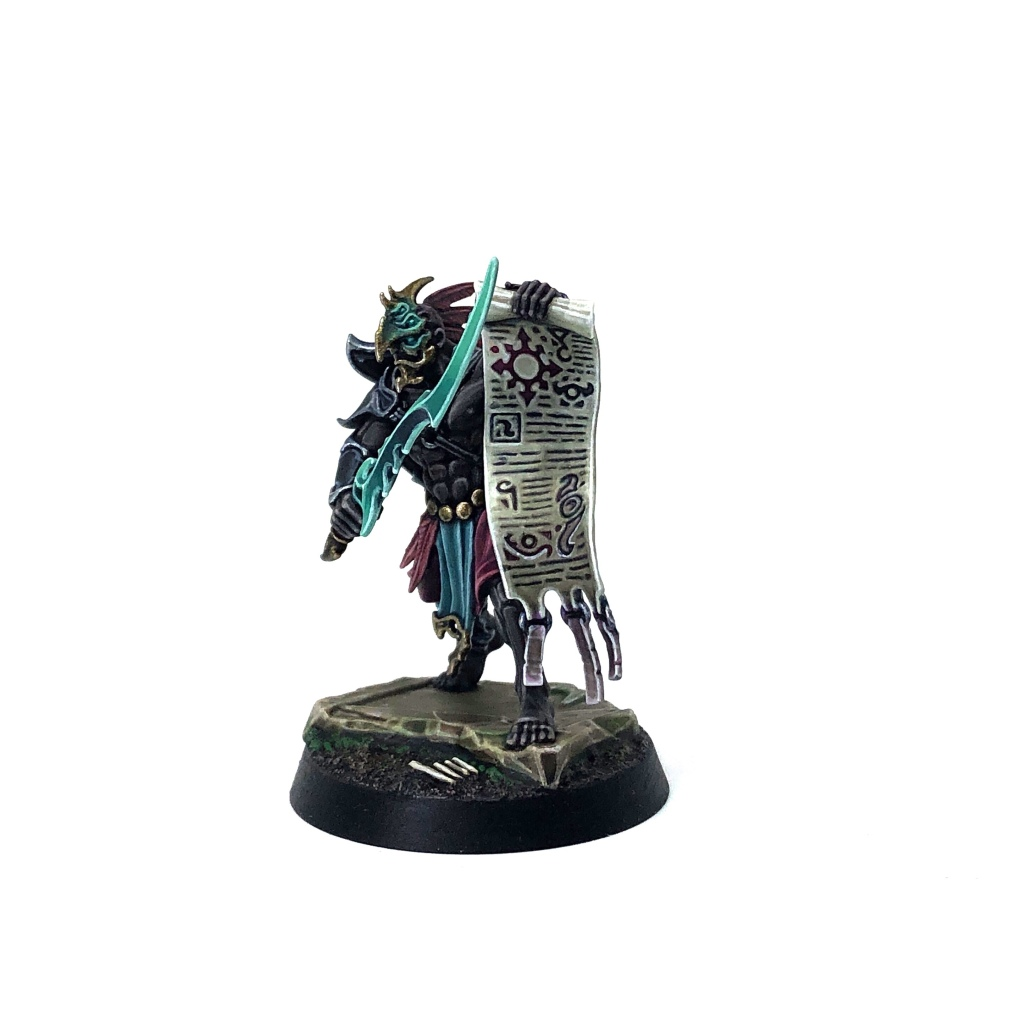 Tzeentch Arcanite Kairic Acolyte with Scroll of Dark Arts